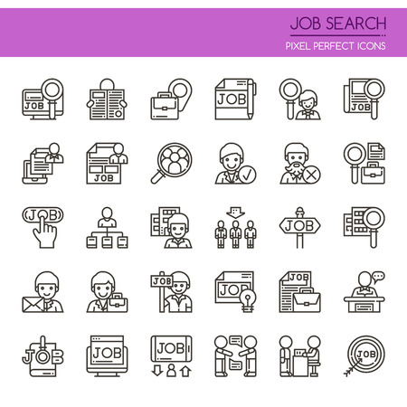 recruit: Job Search , Thin Line and Pixel Perfect Icons