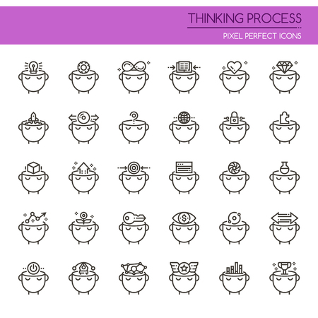 opportunity sign: Thinking Preocess , Thin Line and Pixel Perfect Icons Illustration