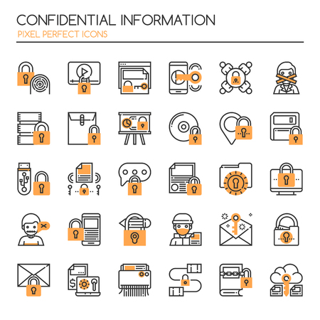Confidantial Information , Thin Line and Pixel Perfect Icons