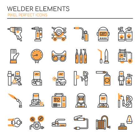 Welder Elements, Thin Line and Pixel Perfect Icons