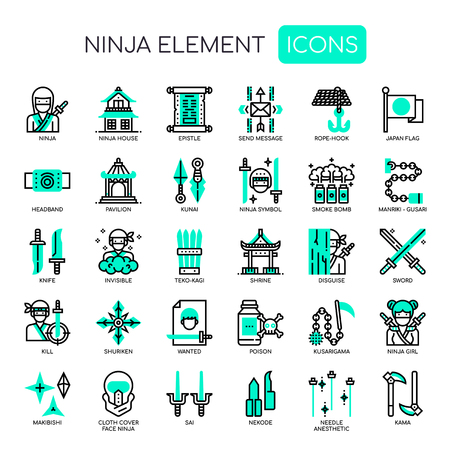 Ninja Elements , Thin Line and Pixel Perfect Icons