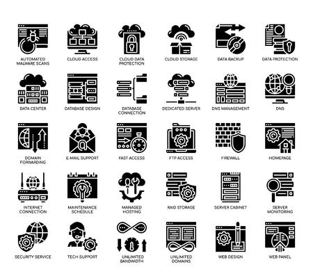 Web Hosting , Glyph Icons