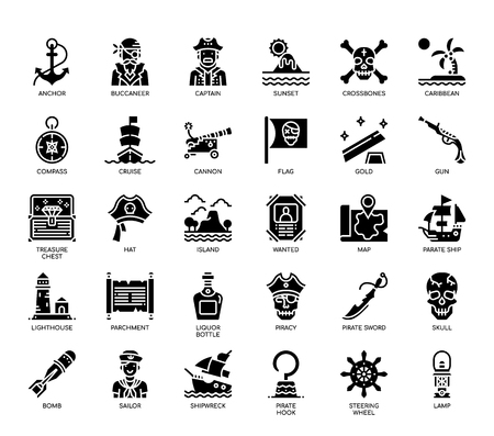 Pirate Elements , Glyph Icons