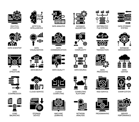 Big Data , Glyph Icons