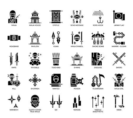 Ninja Elements , Glyph Icons
