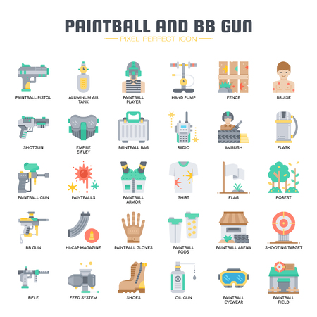 Paintball and BB Gun , Thin Line and Pixel Perfect Icons