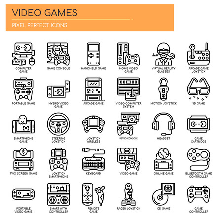 Video Games , Thin Line and Pixel Perfect Icons