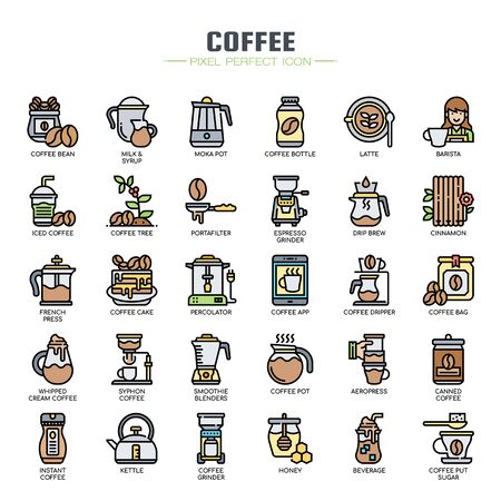 Cofee Elements , Thin Line and Pixel Perfect Icons