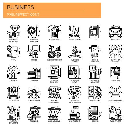 Business Elements , Thin Line and Pixel Perfect Icons