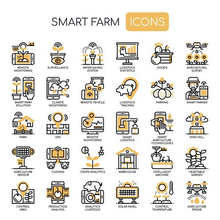 Smart Farm, Thin Line und Pixel Perfect Icons