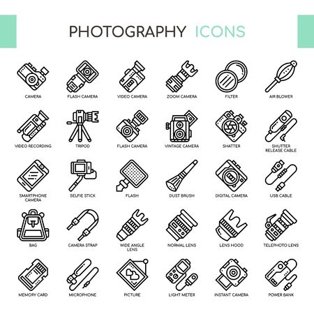 Photography , Thin Line and Pixel Perfect Icons