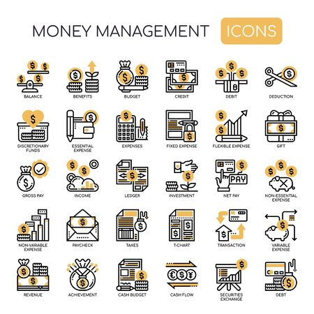Money Management , Thin Line and Pixel Perfect Icons