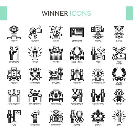 Winner , Thin Line and Pixel Perfect Icons
