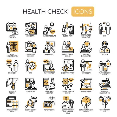 Health Check , Thin Line and Pixel Perfect Icons Иллюстрация