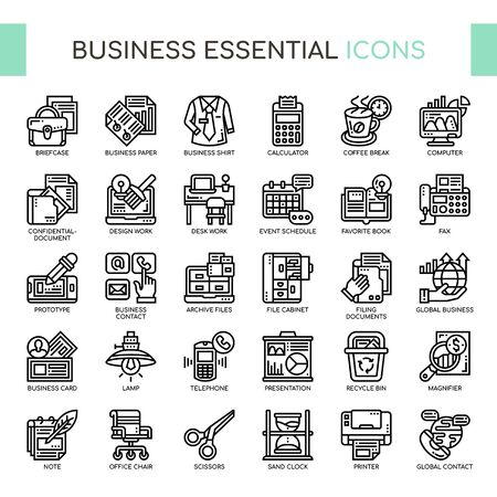 Business Essential , Thin Line and Pixel Perfect Icons