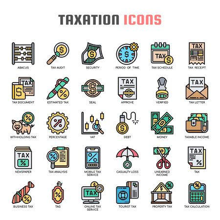 Taxation , Thin Line and Pixel Perfect Icons