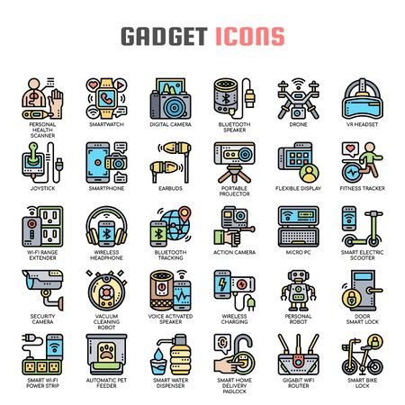 Gadget , Thin Line and Pixel Perfect Icons Иллюстрация