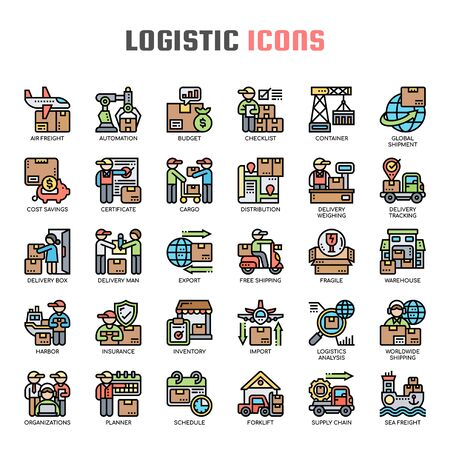 Logistic , Thin Line and Pixel Perfect Icons