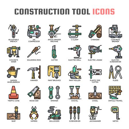 Construction tools , Thin Line and Pixel Perfect Icons