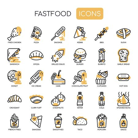 Fastfood , Thin Line and Pixel Perfect Icons