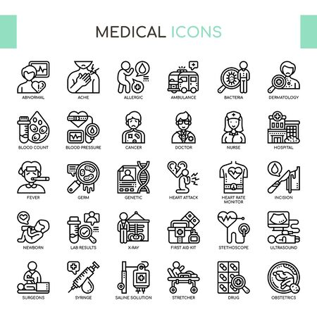 Medical , Thin Line and Pixel Perfect Icons