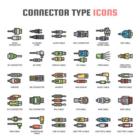 Connector Type , Thin Line and Pixel Perfect Icons