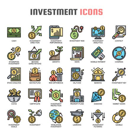 Investment , Thin Line and Pixel Perfect Icons