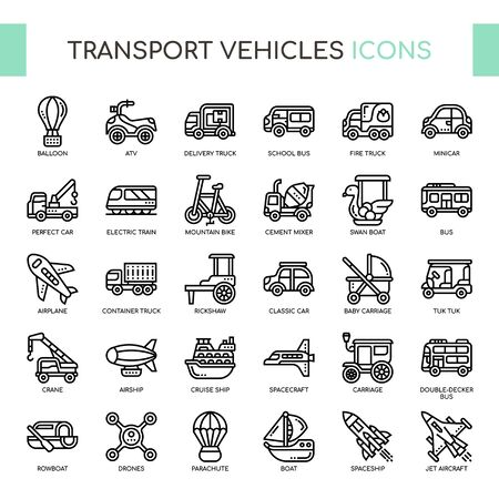 Transport Vehicle 2 , Thin Line and Pixel Perfect Icons
