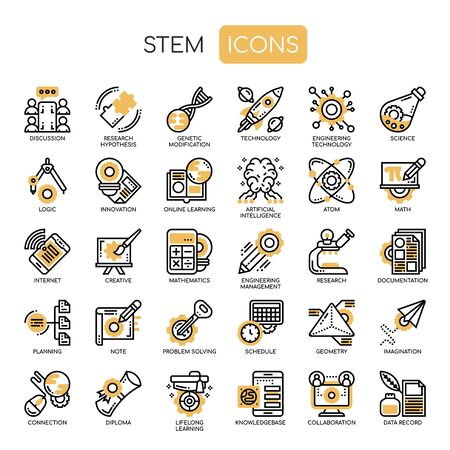 STEM , Thin Line and Pixel Perfect Icons