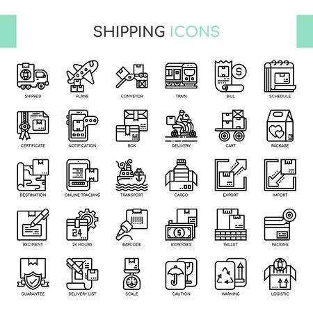 Shipping , Thin Line and Pixel Perfect Icons