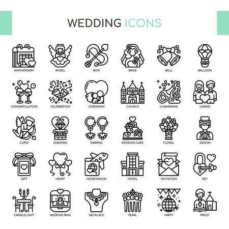Wedding , Thin Line and Pixel Perfect Icons