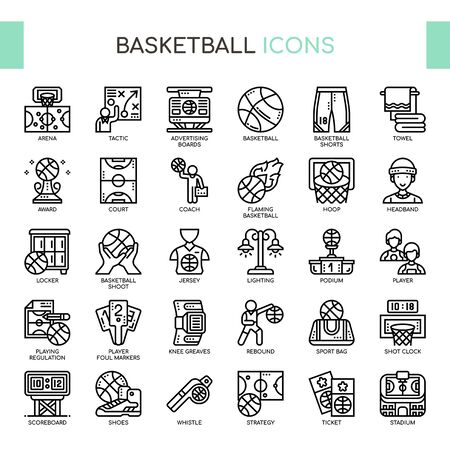 Basketball , Thin Line and Pixel Perfect Icons