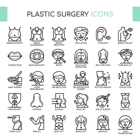 Plastic Surgery , Thin Line and Pixel Perfect Icons