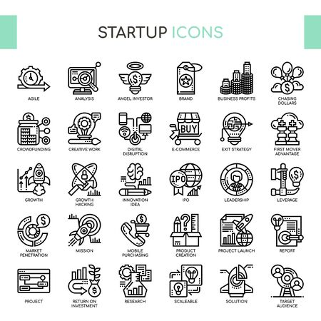 Startup , Thin Line and Pixel Perfect Icons
