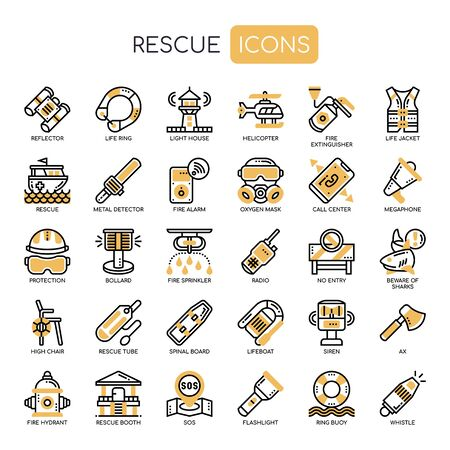Rescue , Thin Line and Pixel Perfect Icons
