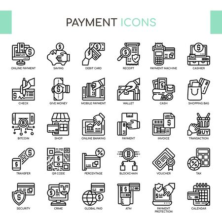 Payment , Thin Line and Pixel Perfect Icons