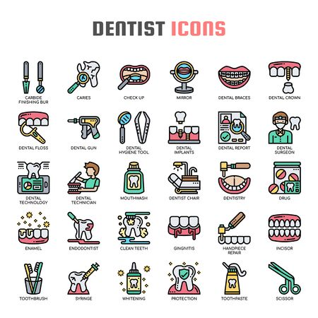 Dentist , Thin Line and Pixel Perfect Icons