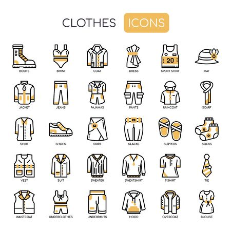 Clothes , Thin Line and Pixel Perfect Icons