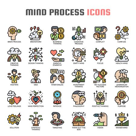 Mind Process , Thin Line and Pixel Perfect Icons