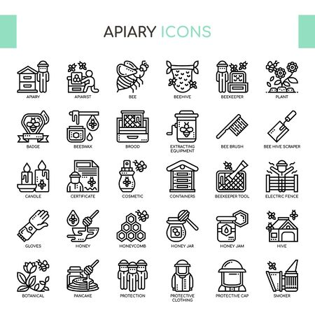 Apiary , Thin Line and Pixel Perfect Icons Ilustrace