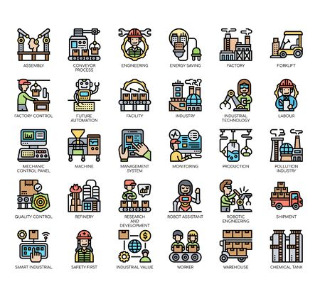 Set of industry thin line and pixel perfect icons for any web and app project.