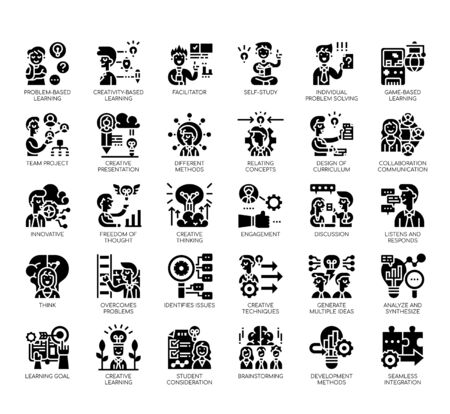 Set of creative learning thin line and pixel perfect icons for any web and app project.