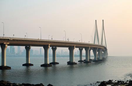 Iconic Bandra worli sea link bridge of Mumbai Stock Photo