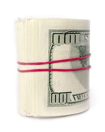 elastic band: Bunch of dollar with gum elastic band.