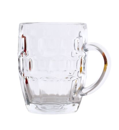Beer glass isolated on a white surface. photo