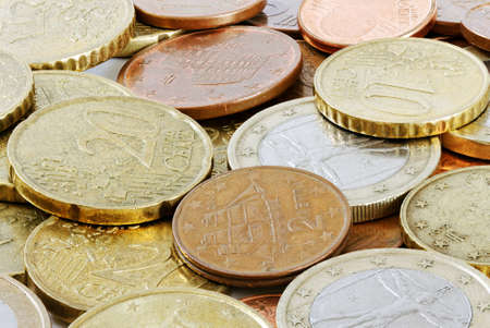 Money background from euro coins. photo