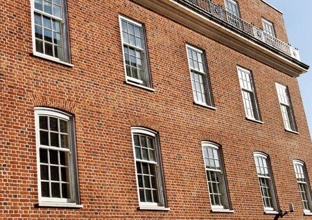 many windows: Brick home with many windows.