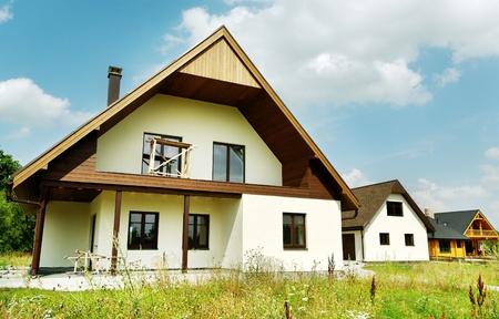 detached: New detachet houses is a build up. Editorial