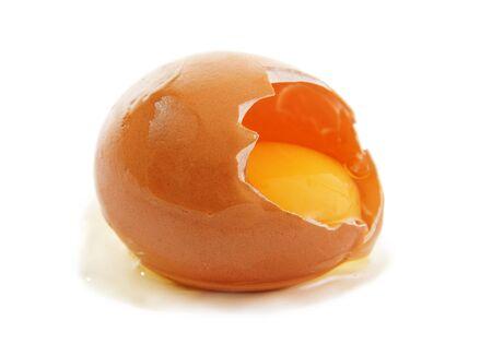 yolks: Broken egg.