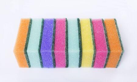 orange washcloth: Washclothes.